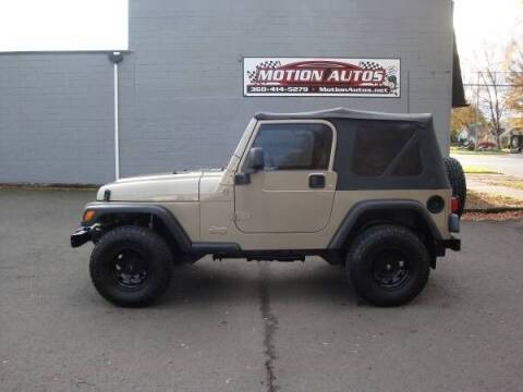2005 Jeep Wrangler for sale at Motion Autos in Longview WA