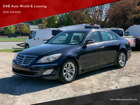 2013 Hyundai Genesis for sale at DAB Auto World & Leasing in Wake Forest NC