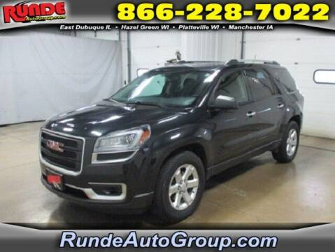 2014 GMC Acadia for sale at Runde PreDriven in Hazel Green WI