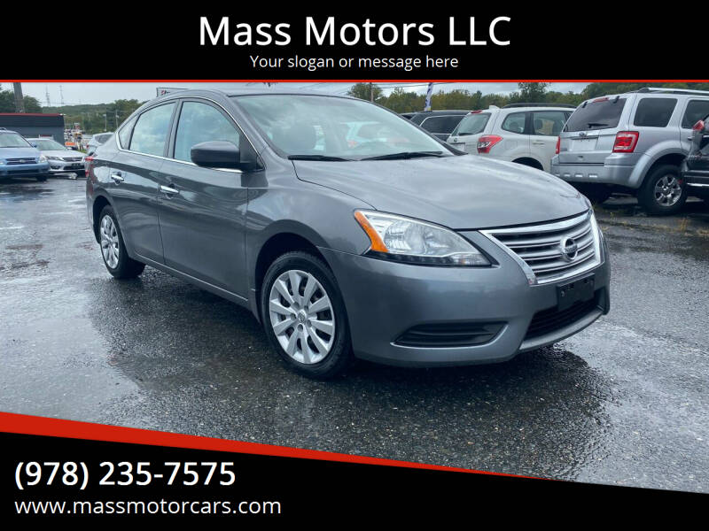 2015 Nissan Sentra for sale at Mass Motors LLC in Worcester MA