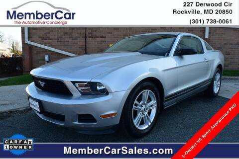 2011 Ford Mustang for sale at MemberCar in Rockville MD