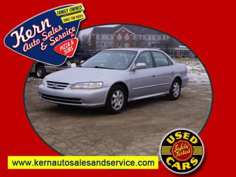 2002 Honda Accord for sale at Kern Auto Sales & Service LLC in Chelsea MI