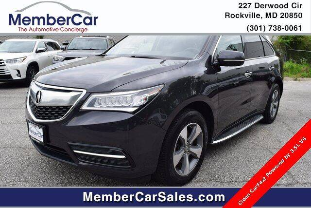 2016 Acura MDX for sale at MemberCar in Rockville MD