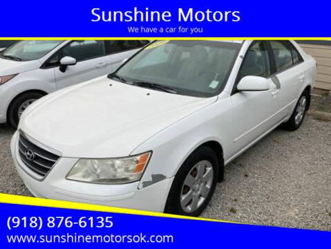 2009 Hyundai Sonata for sale at Sunshine Motors in Bartlesville OK