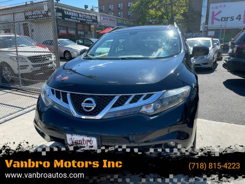 2014 Nissan Murano for sale at Vanbro Motors Inc in Staten Island NY