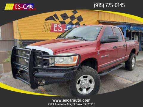 2006 Dodge Ram Pickup 2500 for sale at Escar Auto in El Paso TX