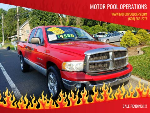2004 Dodge Ram Pickup 1500 for sale at Motor Pool Operations in Hainesport NJ