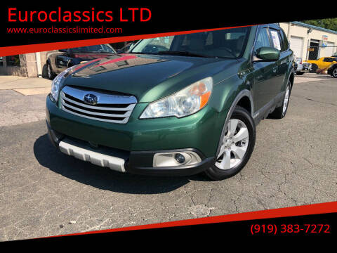 2010 Subaru Outback for sale at Euroclassics LTD in Durham NC