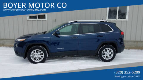 2018 Jeep Cherokee for sale at BOYER MOTOR CO in Sauk Centre MN