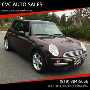 2003 MINI Cooper for sale at CVC AUTO SALES in Durham NC