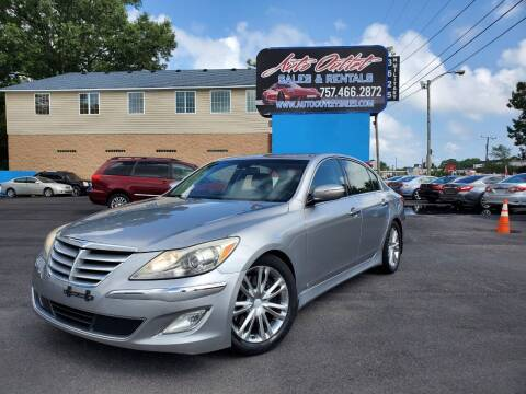 2012 Hyundai Genesis for sale at Auto Outlet Sales and Rentals in Norfolk VA