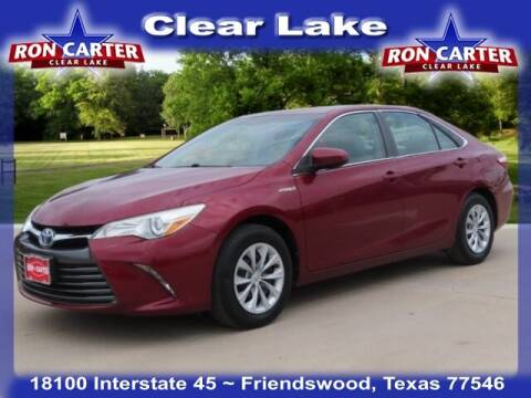 2015 Toyota Camry Hybrid for sale at Ron Carter  Clear Lake Used Cars in Houston TX