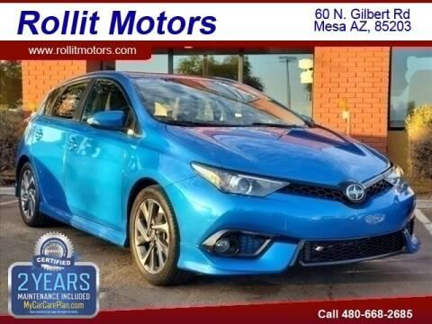 2016 Scion iM for sale at Rollit Motors in Mesa AZ