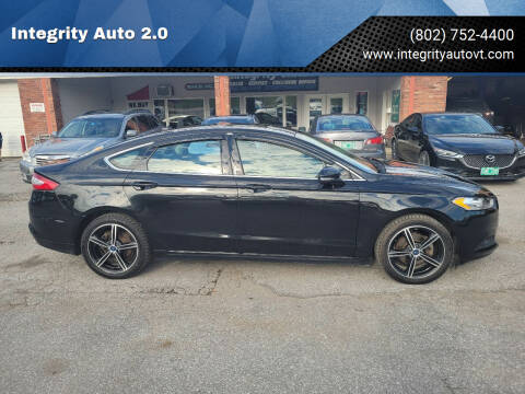 2014 Ford Fusion for sale at Integrity Auto 2.0 in Saint Albans VT