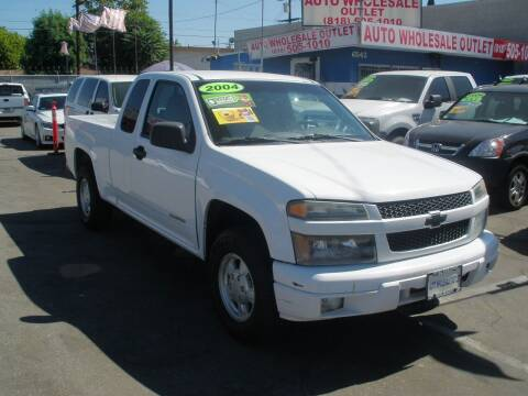 2004 Chevrolet Colorado for sale at AUTO WHOLESALE OUTLET in North Hollywood CA