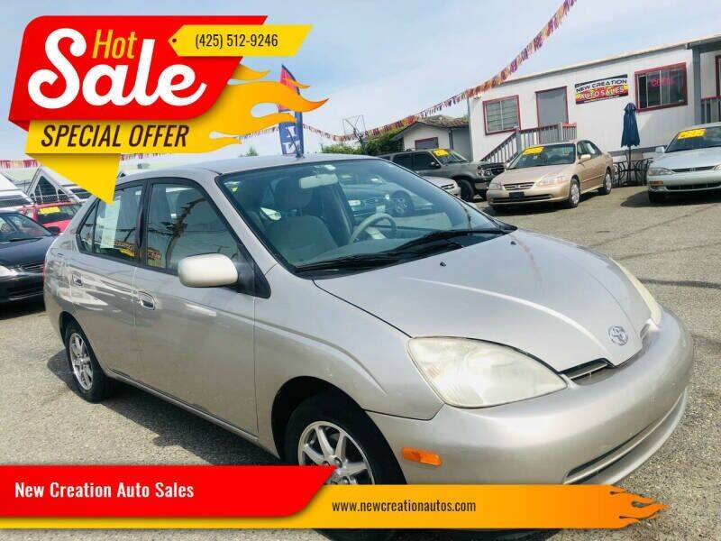 2002 Toyota Prius for sale at New Creation Auto Sales in Everett WA