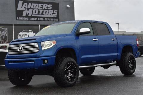 2016 Toyota Tundra for sale at Landers Motors in Gresham OR