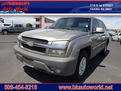 2002 Chevrolet Avalanche for sale at Bruce Kirkham Auto World in Yakima WA