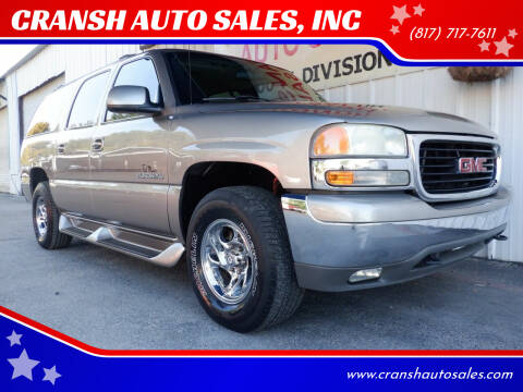 2001 GMC Yukon XL for sale at CRANSH AUTO SALES, INC in Arlington TX