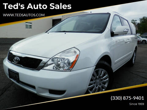2012 Kia Sedona for sale at Ted's Auto Sales in Louisville OH