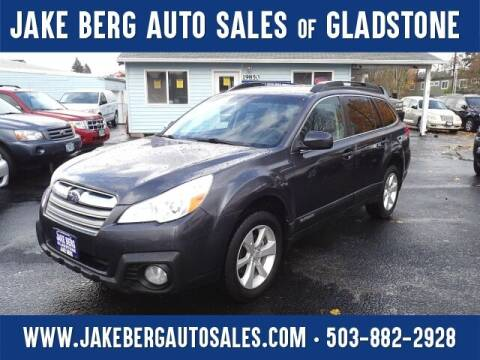 2013 Subaru Outback for sale at Jake Berg Auto Sales in Gladstone OR