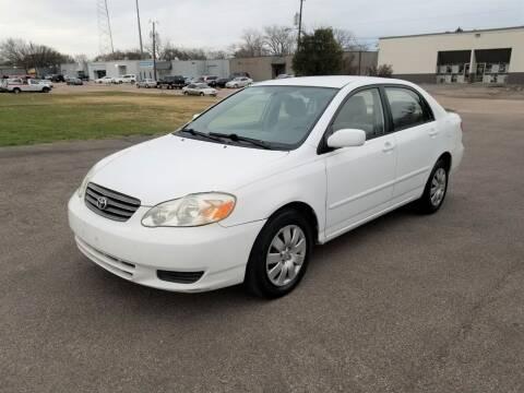 2003 Toyota Corolla for sale at Image Auto Sales in Dallas TX