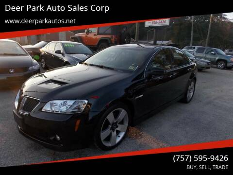 2009 Pontiac G8 for sale at Deer Park Auto Sales Corp in Newport News VA