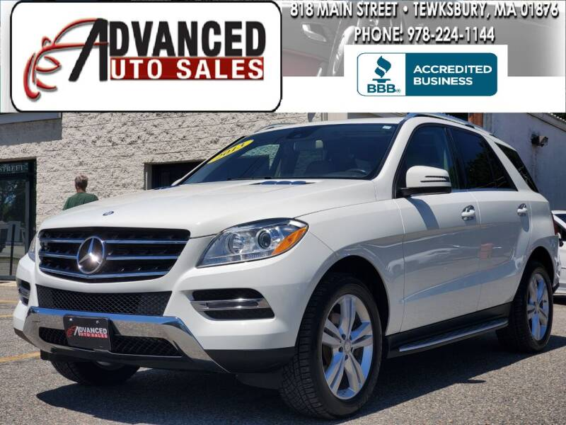 2013 Mercedes-Benz M-Class for sale at Advanced Auto Sales in Dracut MA