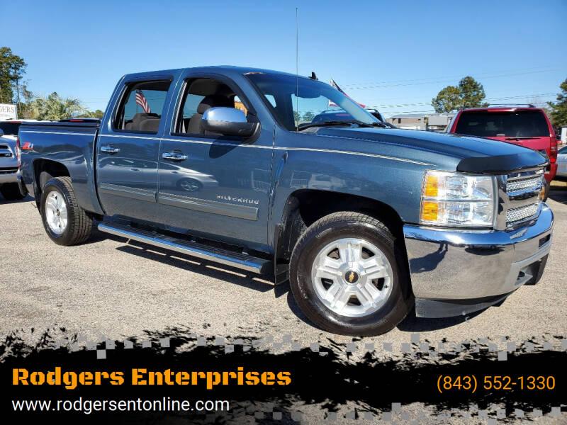 2013 Chevrolet Silverado 1500 for sale at Rodgers Enterprises in North Charleston SC