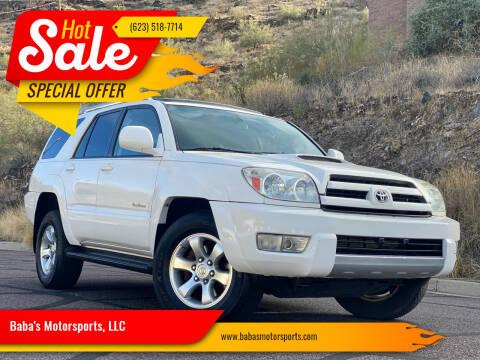 2003 Toyota 4Runner for sale at Baba's Motorsports, LLC in Phoenix AZ