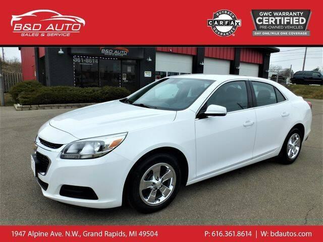 2016 Chevrolet Malibu Limited for sale at B&D Auto Sales Inc in Grand Rapids MI