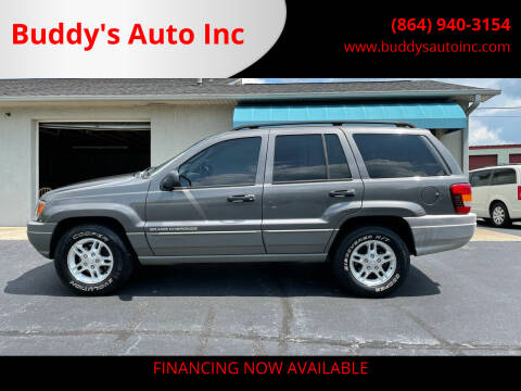 2002 Jeep Grand Cherokee for sale at Buddy's Auto Inc in Pendleton, SC