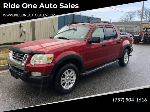 2008 Ford Explorer Sport Trac for sale at Ride One Auto Sales in Norfolk VA