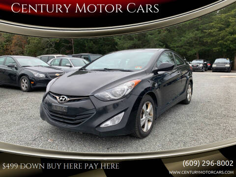 2013 Hyundai Elantra Coupe for sale at Century Motor Cars in West Creek NJ