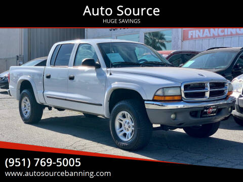 2002 Dodge Dakota for sale at Auto Source in Banning CA