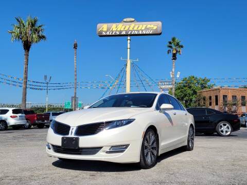 2016 Lincoln MKZ for sale at A MOTORS SALES AND FINANCE - 10110 West Loop 1604 N in San Antonio TX