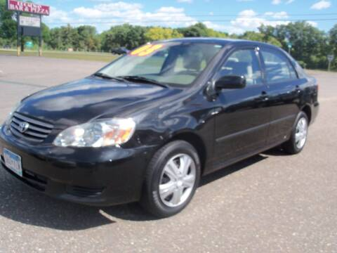 2003 Toyota Corolla for sale at Country Side Car Sales in Elk River MN