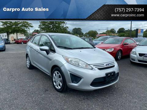 2013 Ford Fiesta for sale at Carpro Auto Sales in Chesapeake VA