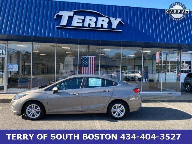 2018 Chevrolet Cruze for sale at Terry of South Boston in South Boston VA