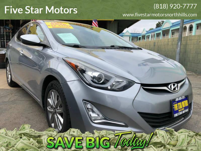 2015 Hyundai Elantra for sale at Five Star Motors in North Hills CA
