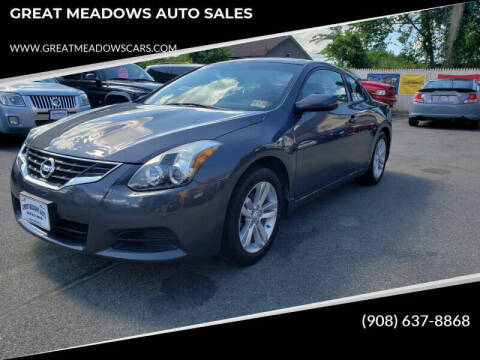 2012 Nissan Altima for sale at GREAT MEADOWS AUTO SALES in Great Meadows NJ