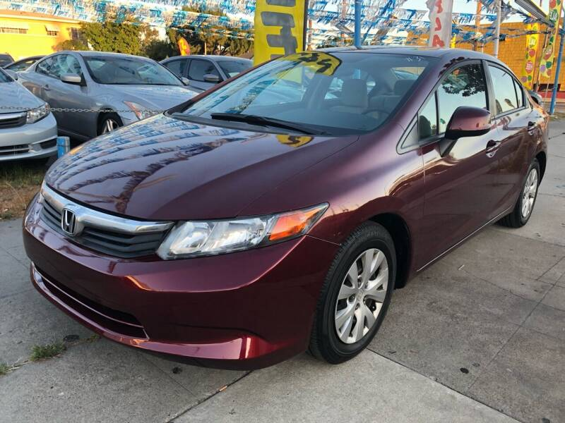2012 Honda Civic for sale at Plaza Auto Sales in Los Angeles CA