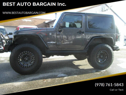 2016 Jeep Wrangler for sale at BEST AUTO BARGAIN inc. in Lowell MA