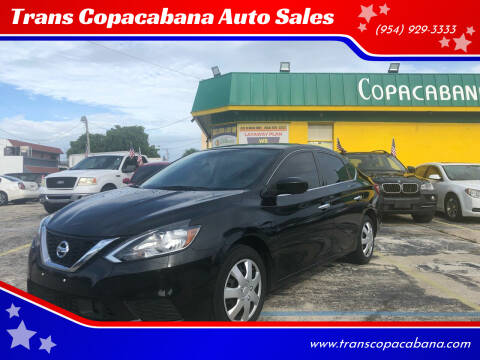 2018 Nissan Sentra for sale at Trans Copacabana Auto Sales in Hollywood FL
