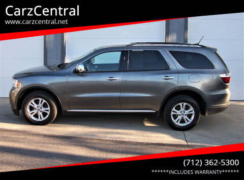 2013 Dodge Durango for sale at CarzCentral in Estherville IA