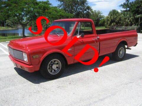 1971 Chevrolet C/K 20 Series for sale at RPM Motors LLC in West Palm Beach FL