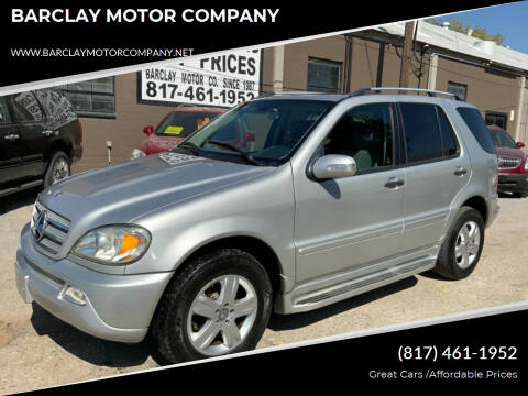 2005 Mercedes-Benz M-Class for sale at BARCLAY MOTOR COMPANY in Arlington TX