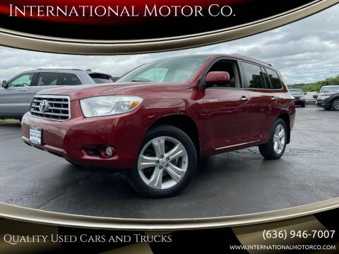 2010 Toyota Highlander for sale at International Motor Co. in St. Charles MO