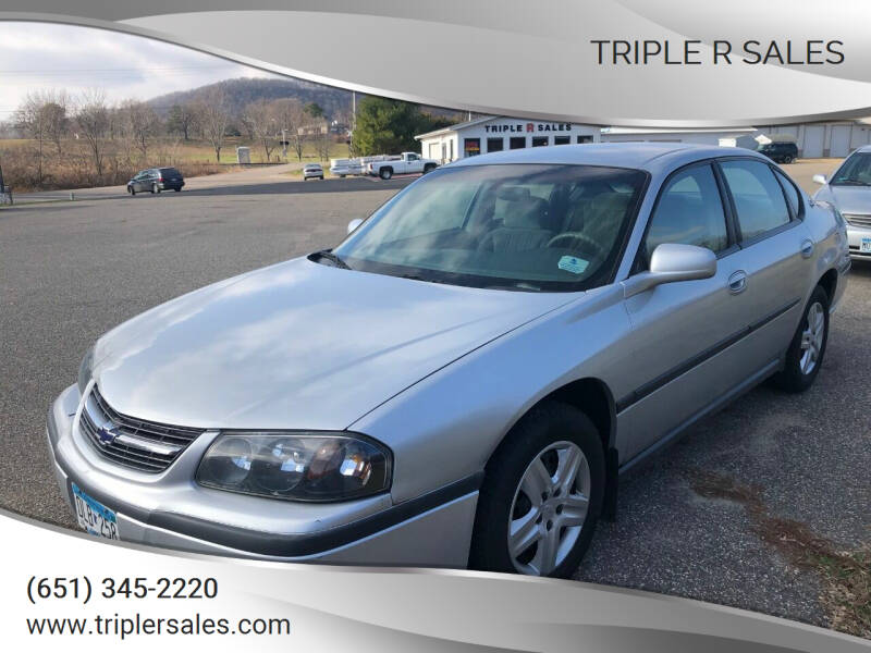 2000 Chevrolet Impala for sale at Triple R Sales in Lake City MN