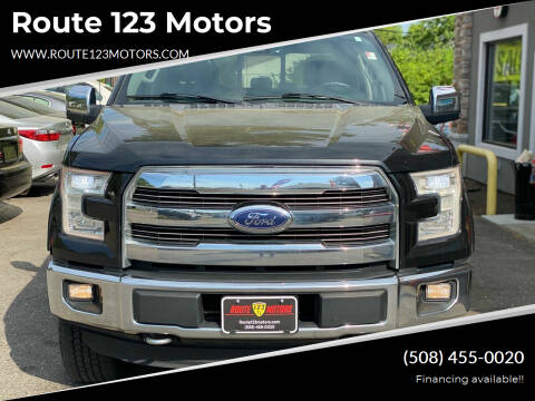 2015 Ford F-150 for sale at Route 123 Motors in Norton MA